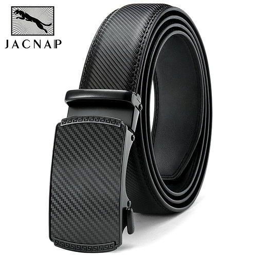 Genuine Leather Belt for Men Automatic Alloy Buckle