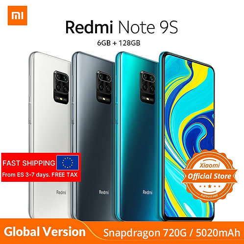 Xiaomi Redmi Note 9S 6GB 128GB Global Version Smartphone