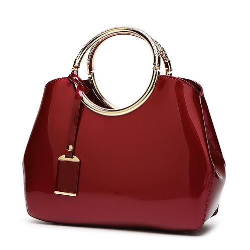 High Quality Patent Leather Women bag Ladies Cross Body messenger Shoulder Bags