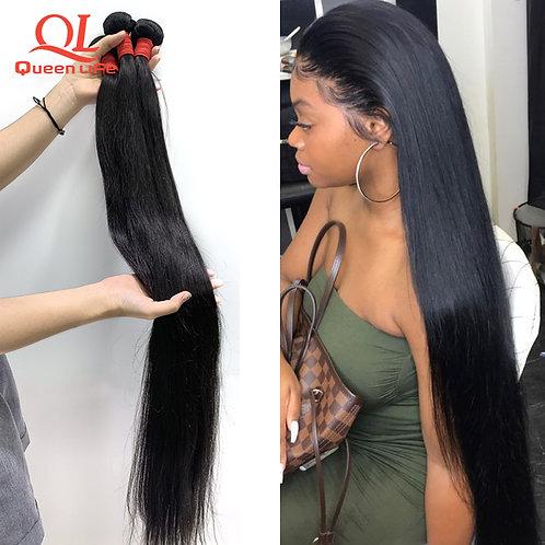 Human Hair Weave Silky Hair 1/3/4 Pieces