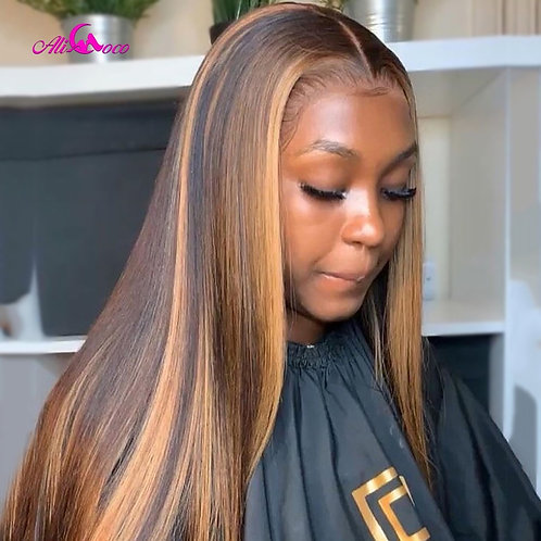 Highlight Colored Human Hair Wig