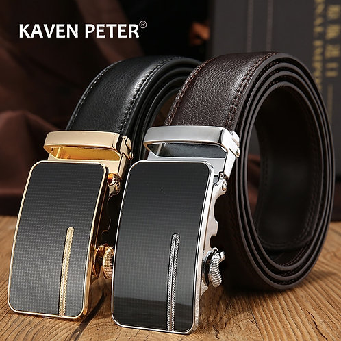 Automatic Buckle Genuine Leather Belt for Men