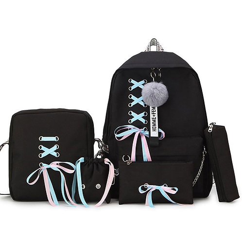 Backpacks 5 Set School Backpack