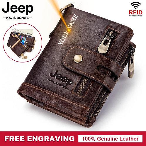 100% Genuine Leather Men Wallet Coin Purse
