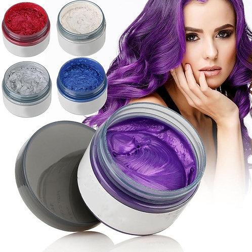7 Color Temporary Hair Dye Cream DIY Grandma Grey Hair Color Wax Mud Style Hair