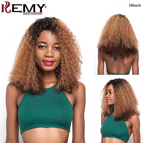 Afro Kinky Curly Wigs KEMY HAIR Brazilian Remy Long Human Hair Wigs