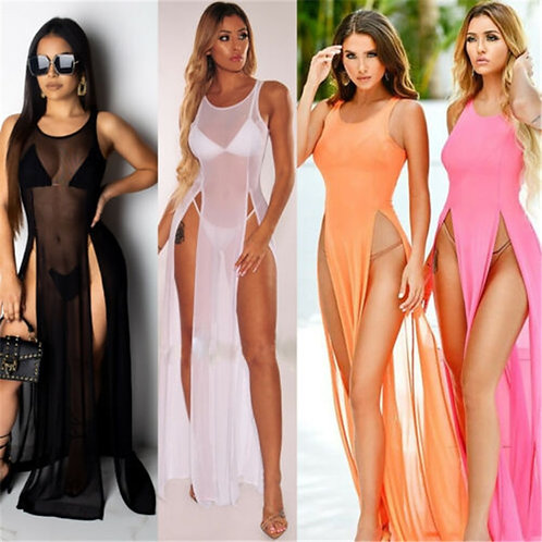 Women O Neck Sleveless Sexy Dresses