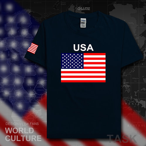 USA T-Shirt for  Men 100% Cotton