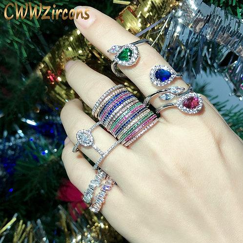 Zirconia Rings Sets Jewelry Gift