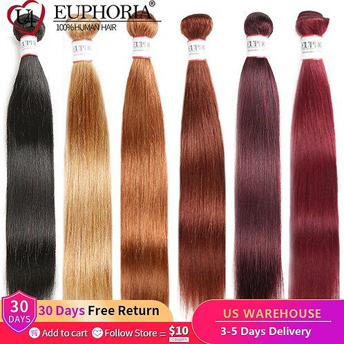 Red Blonde Brown Brazilian Straight Human Hair Bundles