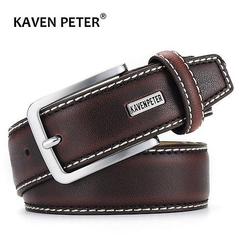 Men Belts Genuine Leather Luxury Designer Brown Vintage