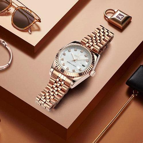 2018 new AAA luxury watch stainless steel waterproof quartz mens and women.