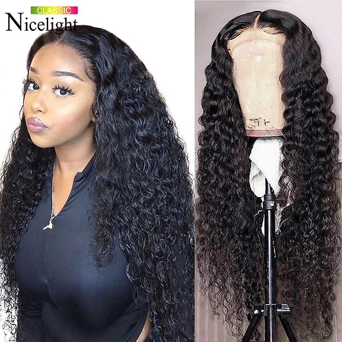Peruvian Water Wave Human Hair Wigs 360 Lace Frontal