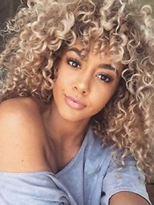 KINKY CURLY WIG OMBRE BLONDE SHORT