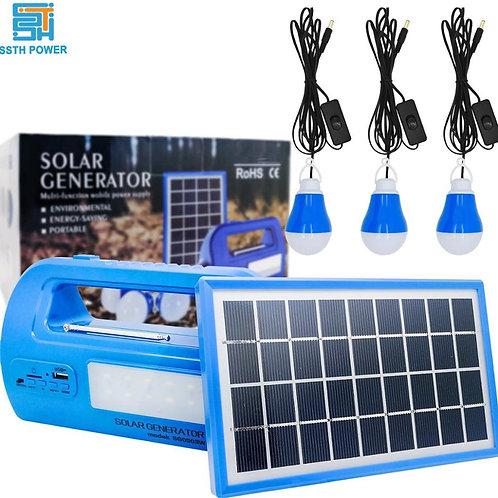 Portable Solar energy system Generator Outdoor Power Mini DC 3W Solar home Light