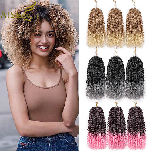 Synthetic Braiding Hair Extensions for Women Purple Black