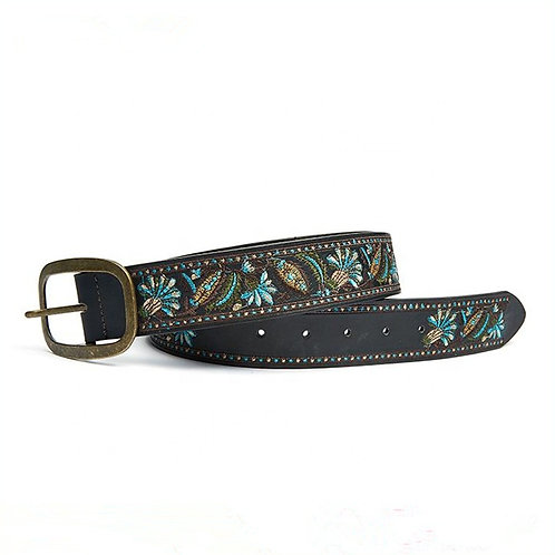 Alfa Hot Italian Embroidered PU Synthetic Leather Belt For Women