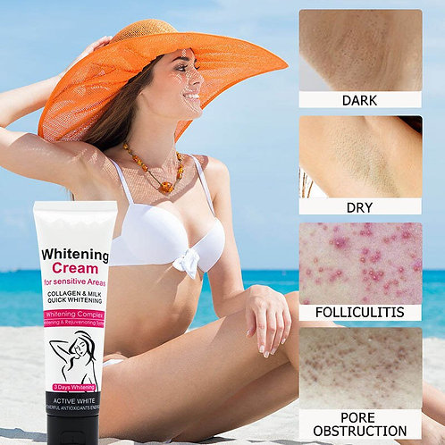 1 PC Skin Armpit Whitening Cream Skin Lightening Bleaching Cream for Underarm