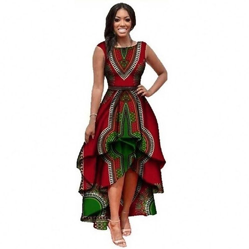 design fashion women long casual party african kitenge dress