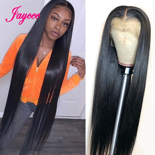 Human Hair Wig Straight  Brazilian Frontal Wig Pre Plucked