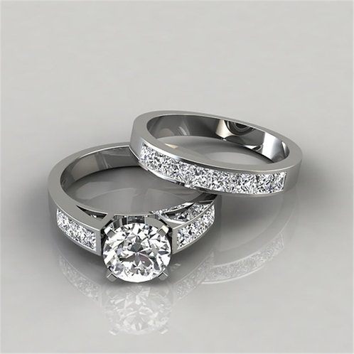 2Pcs/Set Charm Lovers Ring  for women