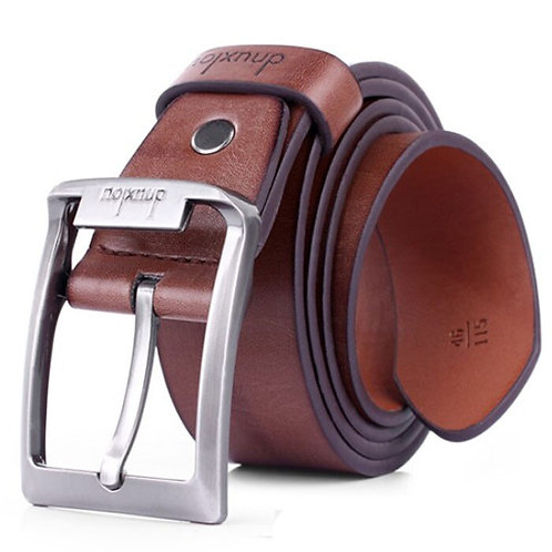 Mens Leather Belt Automatic Buckle