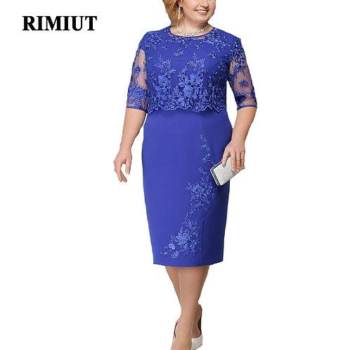 Elegant Lace Dress Plus Size
