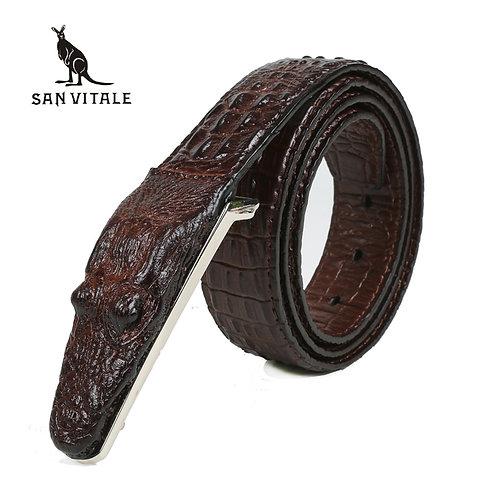 3D Crocodile  Leather Belt Designer for Men