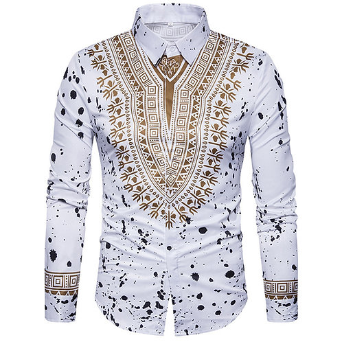 African Dresses for Men Shirt Long Sleeve