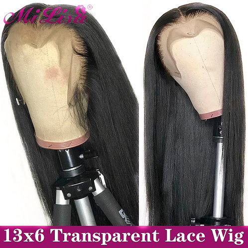 13x6 Straight Lace Front Human Hair Wigs 30 Inch 4x4