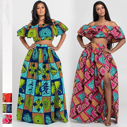 African Clothes  Shoulder Off Ladies
