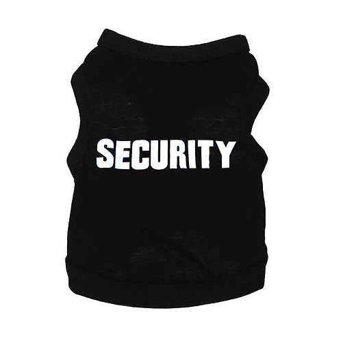 Security Suit Cosplay Dog Clothes