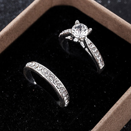 2Pcs/Set Charm Lovers Ring