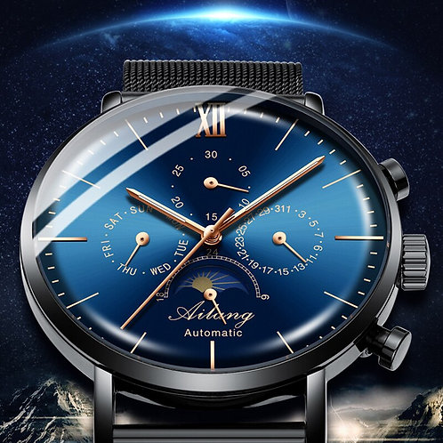 Mechanical Mens Watches  Full Steel Sapphire