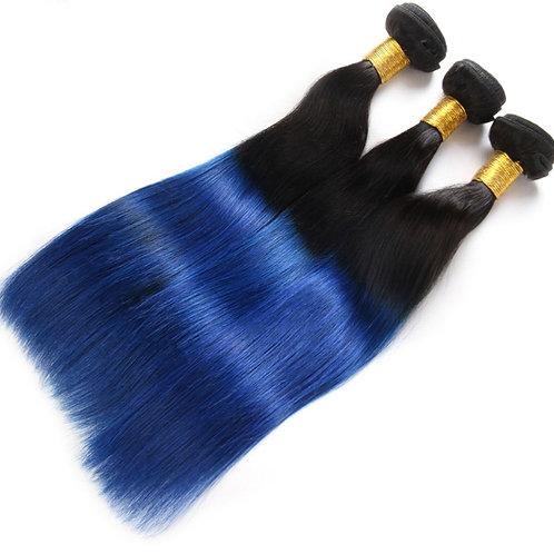 "8""-30"" Peruvian virgin hair weaving 1b/blue ombre human hair extension cheap Per"