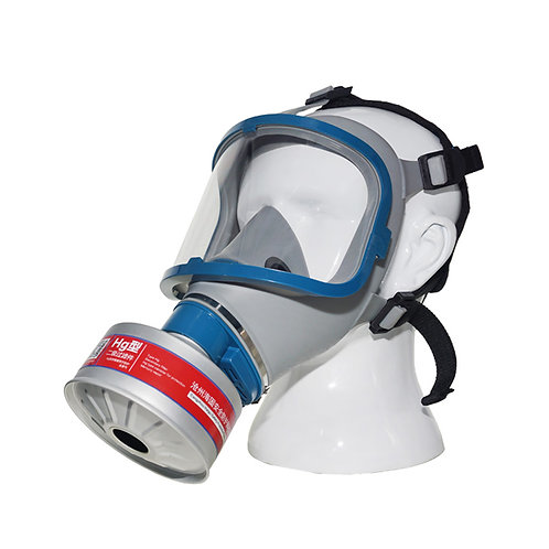 Full gas mask+HG-ABS/P-E-2 silvery filter activated carbon filter acid gas mask