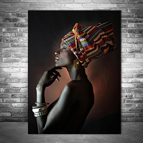 Beautiful Black Women Oil Paintings Print on Canvas