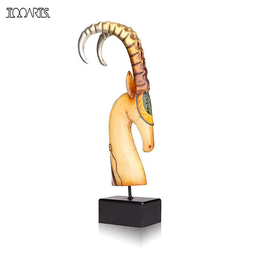 African Goat Metal Sculpture
