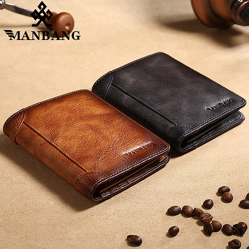 100% Genuine Leather Men Wallet Card Holder