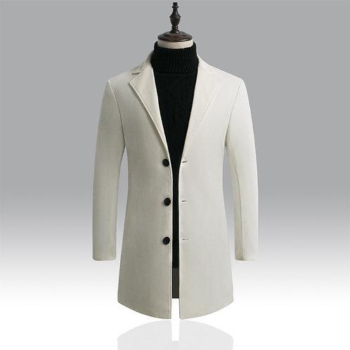 Autumn Winter Mens Brand Fleece Blends Jacket