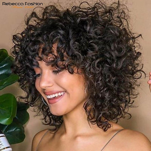 Short Curly Human Hair Wigs - Shoppiny.com