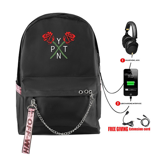 Backpack USB Pad Travel Bag Schoolbag for