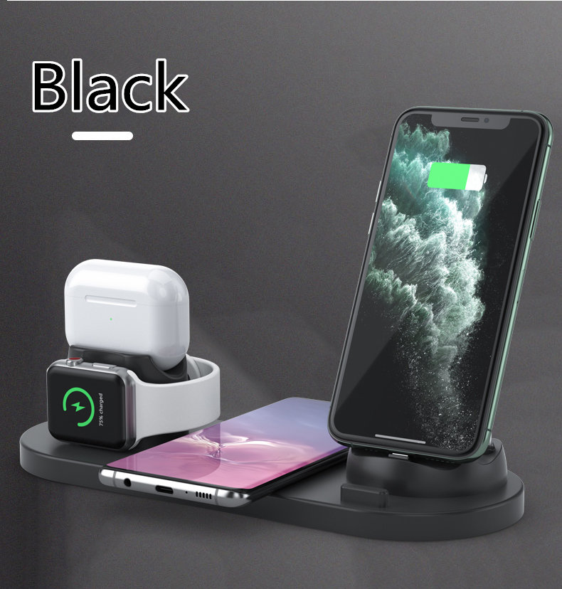 wireless charger station 6 in one shoppi