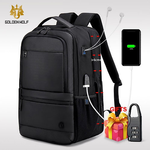 Backpack USB External Charge 15.6 Inch Laptop Backpack for Men