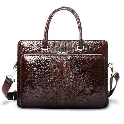 Real Crocodile Leather Men Handbag