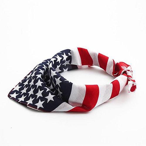 American Flag Stripes Star Print Headband