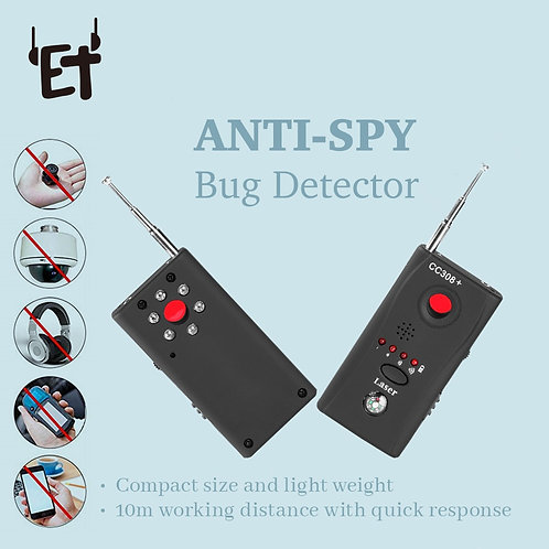 Anti Spy Bug Detector CC308 Full Range Mini Wireless Camera