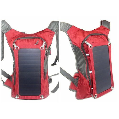 2018 solar panel backpack, portable solar bag with 30-40L water bag for cycling