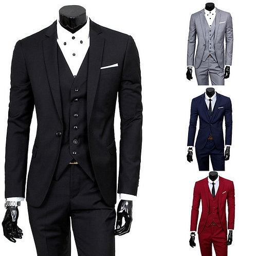 3Pcs Set (Jacket+Pants+Vest)