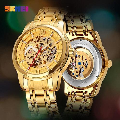 Mechanical Automatic Golden Watch | Shoppiny.com
